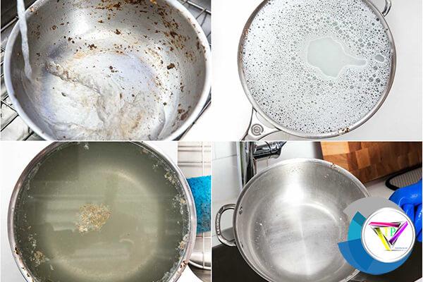 cách làm sạch đồ dùng bằng inox
