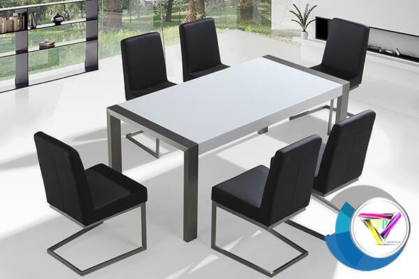 bàn ghế họp làm bằng inox