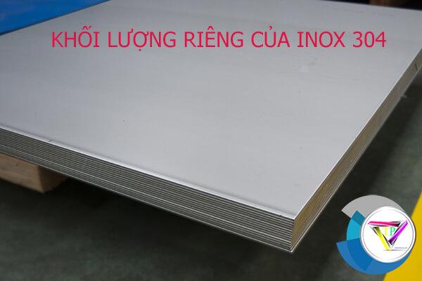 khối lượng riêng của inox 304, 201, 316