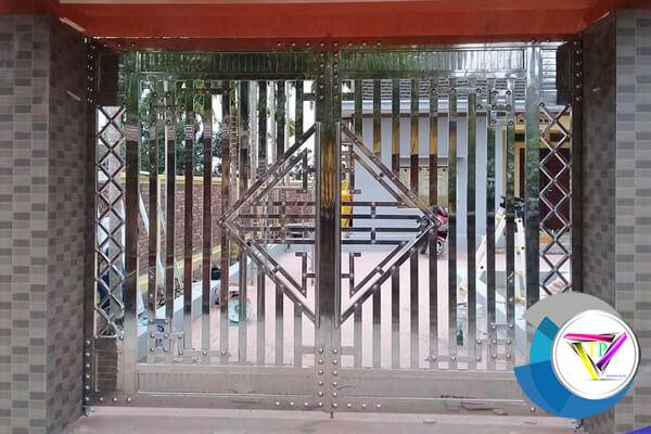 xưởng gia công cửa inox, cổng inox
