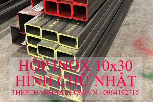 Hộp Inox 10×30 mm Hình Chữ Nhật