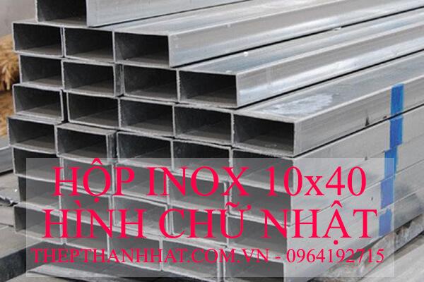 Hộp Inox 10x40 Hình Chữ Nhật, Hộp Inox 40x10 Hình Chữ Nhật