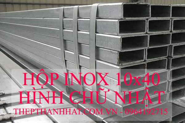 Hộp Inox Chữ Nhật 10x40 mm