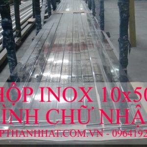 hộp inox chữ nhật 10x50mm, hộp inox 10 x 50 mm