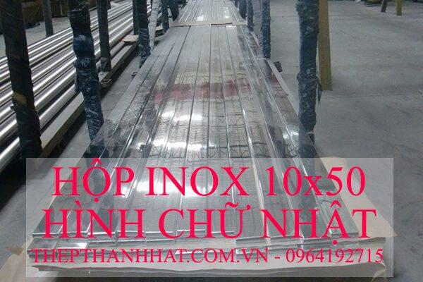 Hộp Inox 10×50 mm Hình Chữ Nhật