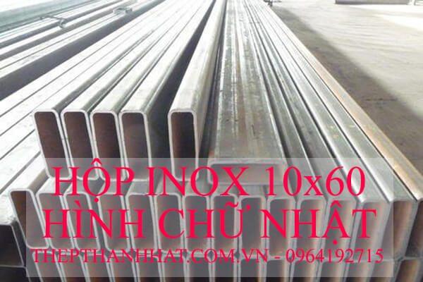Hộp Inox 10×60 mm Hình Chữ Nhật