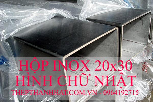 Hộp Inox 20x30 mm Hình Chữ Nhật
