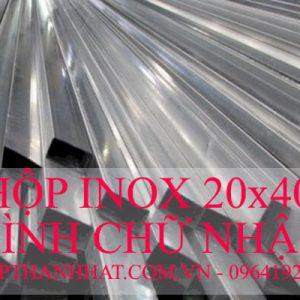 Hôp Inox 20x40 mm Hình Chữ Nhật