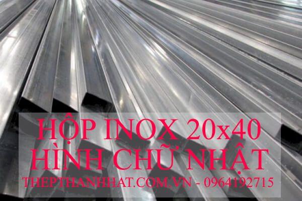 Hôp Inox 20×40 mm Hình Chữ Nhật