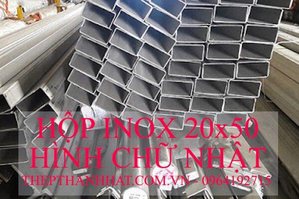 Hộp Inox 20×50 mm Hình Chữ Nhật