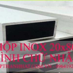 Hộp Inox 20x80 mm Hình Chữ Nhật