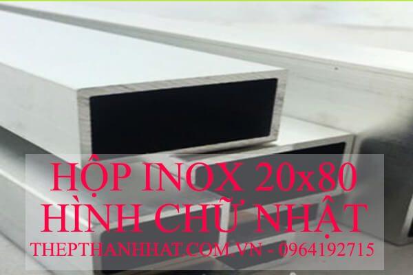 Hộp Inox 20×80 mm Hình Chữ Nhật