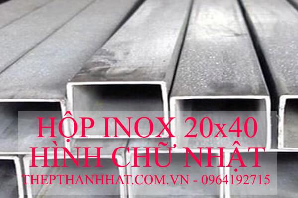 Hộp Inox Hình Chữ Nhật 20x40mm